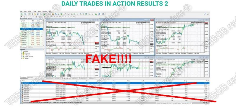 Trading results are fake