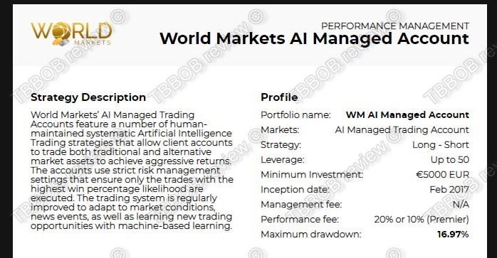 AI managed account features