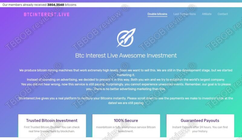 BTC Interest Live review