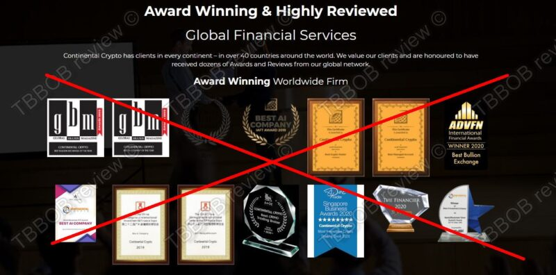 Fake awards